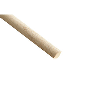 Wickes Light Hardwood Quadrant Moulding - 15mm x 15mm x 2.4m