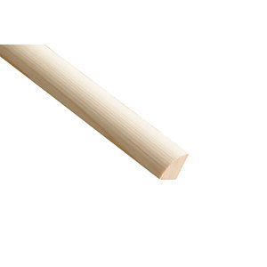 Wickes Pine Quadrant Moulding - 18mm x 18mm x 2.4m