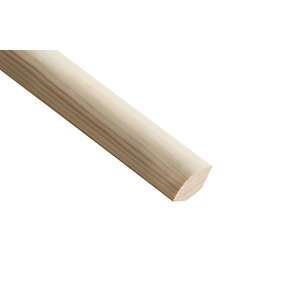Wickes Pine Quadrant Moulding - 21mm x 21mm x 2.4m