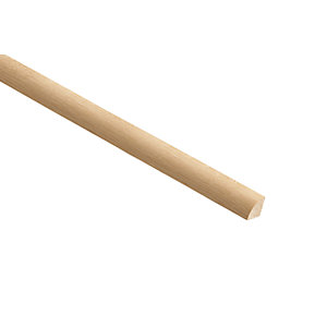 Wickes White Oak Quadrant Moulding - 18mm x 18mm x 2.4m