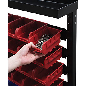 Hilka Storage Rack Solution with 43 Bins - Black