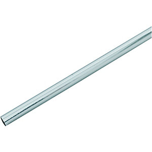 Wickes Chrome Radiator Pipe Snaps - 1m Pack of 3