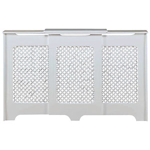 Wickes Derwent Large Adjustable Radiator Cover White - 1430-2000 mm
