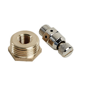 Wickes Brass/Chrome Auto Air Vent 3.175mm + 15mm Bush