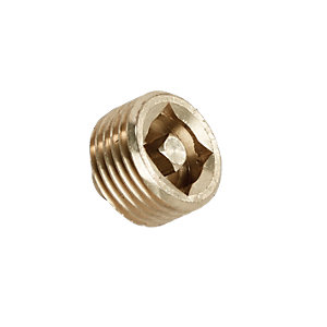 Wickes Brass Radiator Vent Plug - 15mm