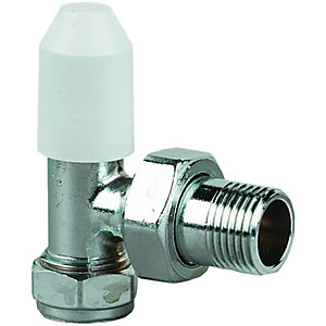 Wickes Radiator Lockshield Radiator Valve - 15 x 12mm