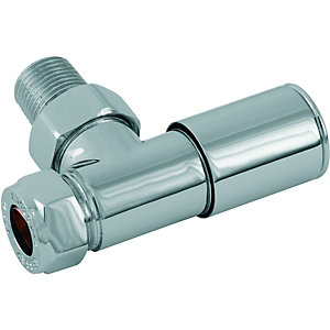 Wickes Smooth Head Angled Radiator Valve - Pack of 2