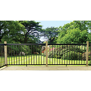 Probuilt Deck Railing Kit - Black 1.8m x 1.067m
