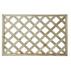 Wickes Lattice Privacy Deck Panel - Light Green 1.13m x760 x 35mm