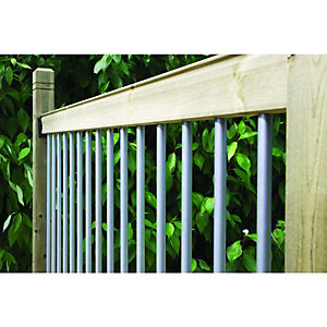 Wickes Traditional Deck Railing Kit - Silver 952mm x 1.816m