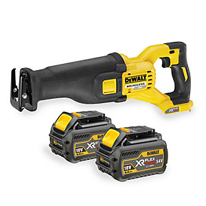 DeWalt DCS388T2 XR Flexvolt 54V Cordless Brushless Reciprocating Saw with 2 x 6.0AH Batteries