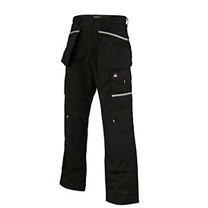 Rhino Pro Worker Trousers Black Reg Leg