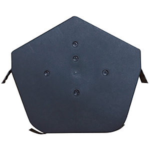 Easy-Trim Verge U Angled  Ridge Cap Black