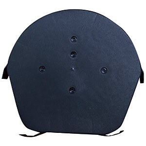 Easy-Trim Verge U Half Round Ridge Cap Black