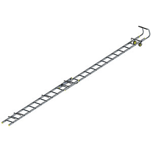 Youngman 7.13m Aluminium Double Section Roof Ladder