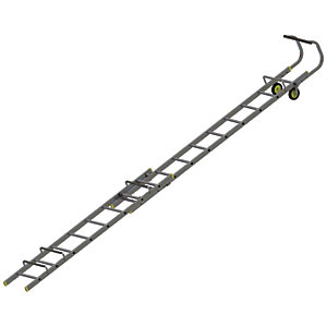 Youngman Aluminium Double Section Roof Ladder - Max Height 4.89m