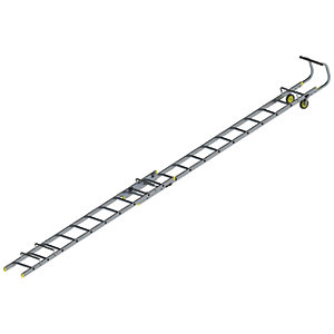 Youngman Aluminium Double Section Roof Ladder - Max Height 6m