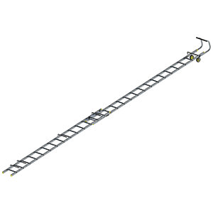 Youngman Aluminium Double Section Roof Ladder - Max Height 8.25m