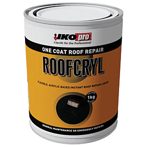Ikopro Roofcryl One Coat Acrylic Based Roof Repair - Black 1kg