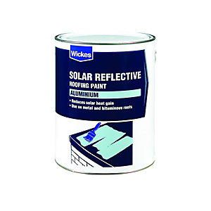 Wickes Aluminium Solar Reflective Roof Paint 5L