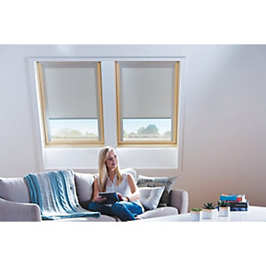 Wickes Roof Window Blind - Cream 961 x 931mm