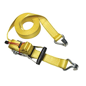 Master Lock 8.25m Ratchet Strap Tie Down with J Hooks
