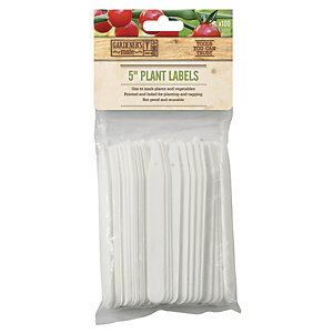 Gardman Pointed Plastic Anti Rot Plant Labels - 5in - 130mm Pack of 100