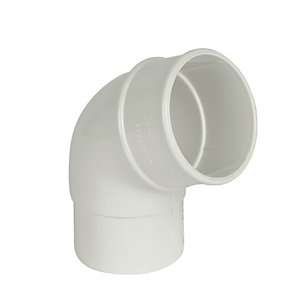 FloPlast RB2W Round Line Downpipe Offset Bend - White 112.5 Deg x 68mm
