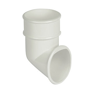 FloPlast RB3W Round Line Downpipe Shoe - White 68mm