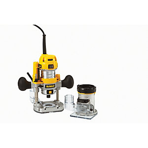 DEWALT D26240K-GB 1/4in Combination Plunge & Fixedbase Corded Router 230V - 900W