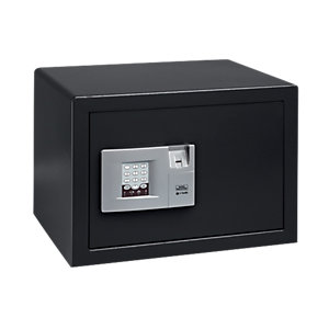 Burg-Wachter Pointsafe Electronic Home Safe with Fingerscan - 38.8L Black