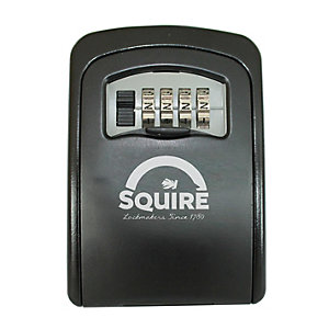 Squire Wall Mounted Combination Key Safe - Black