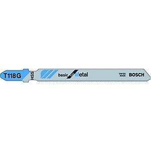 Bosch T118G Metal Jigsaw Blades - Pack of 5