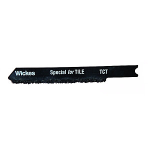 Wickes Universal Tungsten Carbide Jigsaw Blade for Tile - Pack of 5