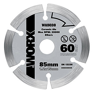 Worx WA5038 Worxsaw Diamond Blade - 85mm