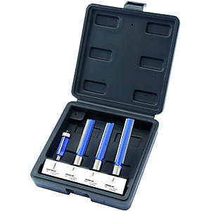 Wickes 4 Piece Kitchen Worktop Router Bit Set 1/2in