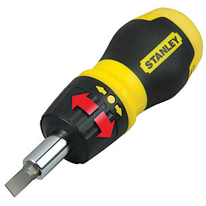 Stanley 0-66-358 Stubby Ratchet Multibit Screwdriver