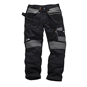 Scruffs 3D Trade Black Trousers - Reg Leg