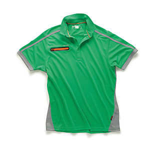 Scruffs Pro Active Zip Polo Green