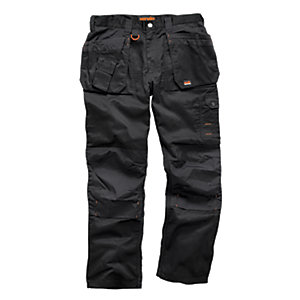 Scruffs Worker Plus Trousers Black - Short Leg