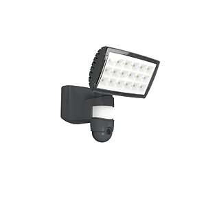 Lutec Peri PIR Security Floodlight with Wireless CCTV - 25W