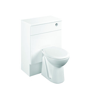 Wickes Seville White Gloss Fitted Toilet Unit - 600mm