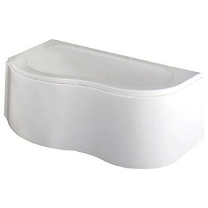 Wickes Acrylic Left Hand Curved Corner Bath - 1500 x 850mm