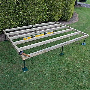 Shire Adjustable Base for 7 ft x 7 ft Camelot, Bradley, Barnsdale Cabins