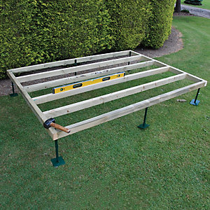 Shire Adjustable Base for 8 ft x 8 ft Camelot, Bradley, Barnsdale Cabins