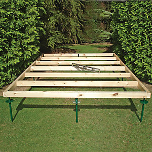 Shire Adjustable Base for Summerhouses & Sheds - 8 ft x 6 ft