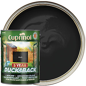 Cuprinol 5 Year Ducksback Matt Shed & Fence Treatment - Black 5L
