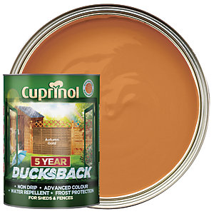 Cuprinol 5 Year Ducksback Matt Shed & Fence Treatment - Autumn Gold 5L