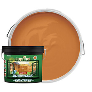 Cuprinol 5 Year Ducksback Matt Shed & Fence Treatment - Autumn Gold 9L