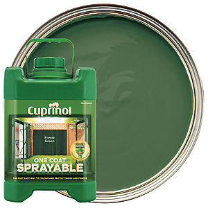 Cuprinol One Coat Sprayable - Forest Green 5L